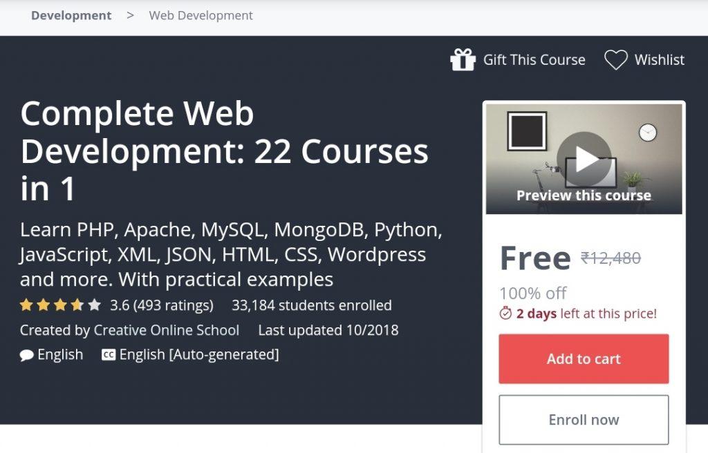Complete Web Development: 22 Courses in 1