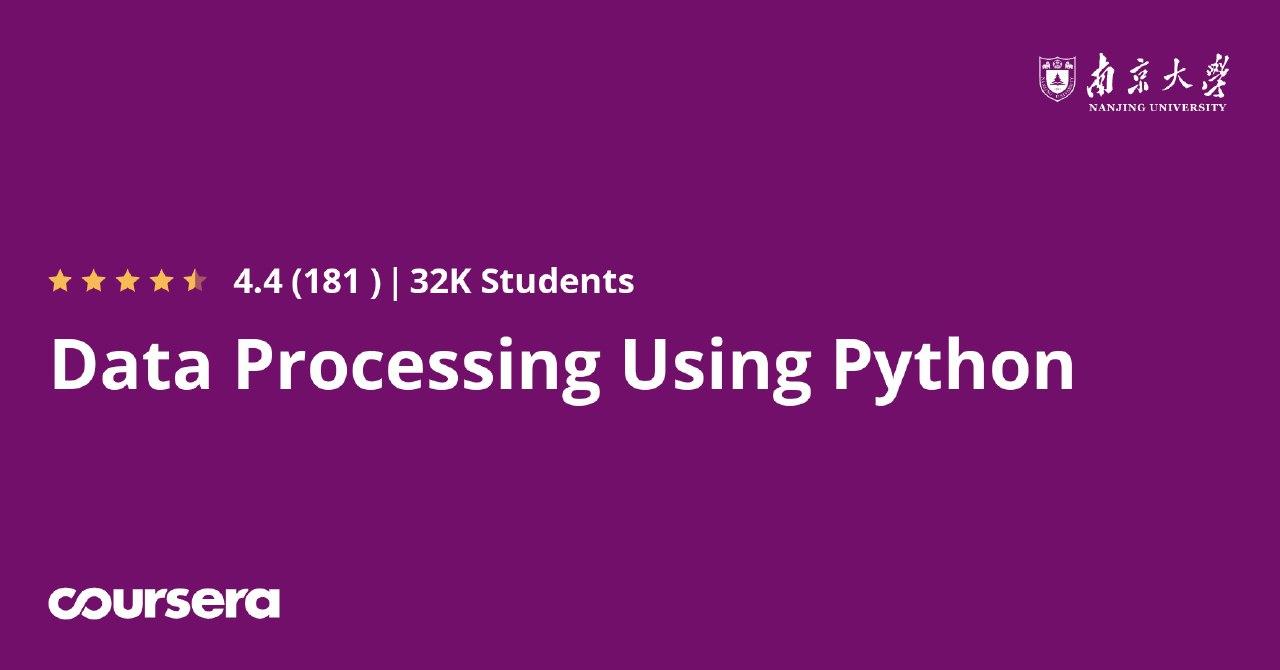 Data Processing Using Python Coursera