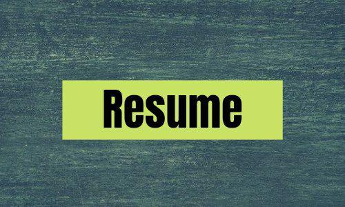 Create Effective Resume