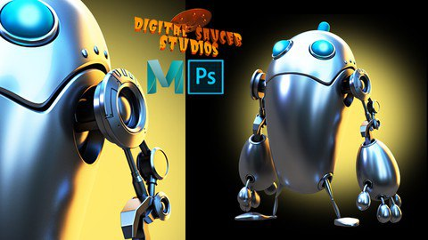 Modeling and Rendering a Robot in Maya 2020