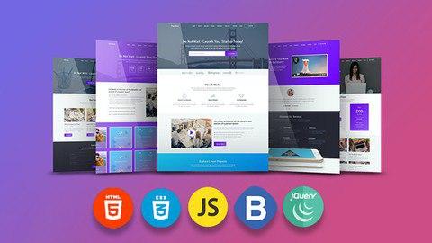 Make a Responsive Portfolio Website : JavaScript HTML CSS